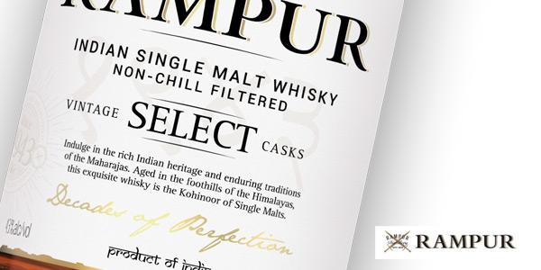 Botella Whisky Rampur Vintage Select Casks Indian Single Malt de 700 ml chollo en Amazon