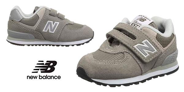 Zapatillas infantiles New Balance 574V2 Core Velcro baratas en Amazon