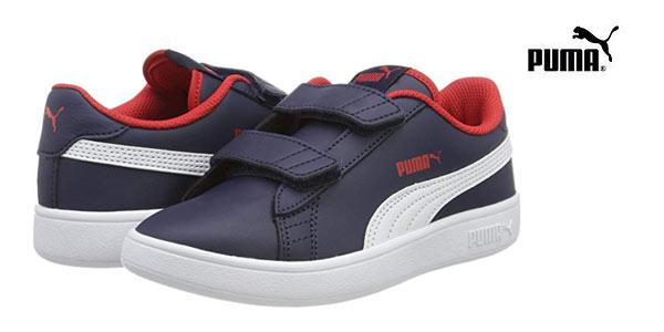 Zapatillas infantiles Puma Smash V2 L V PS baratas en Amazon