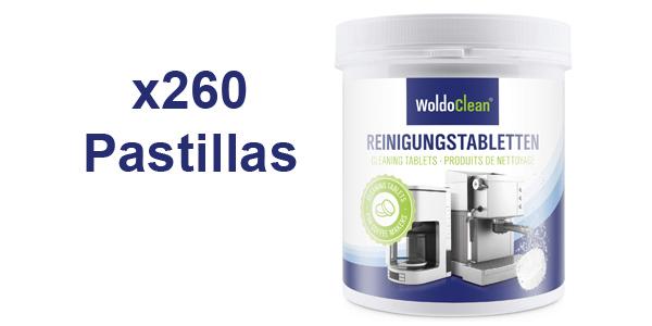 260 Pastillas para la limpieza de cafeteras automáticas WoldoClean barato en Amazon