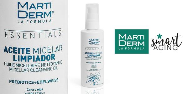 Aceite micelar limpiador Martiderm para cara y ojos de 100 ml barato en Amazon