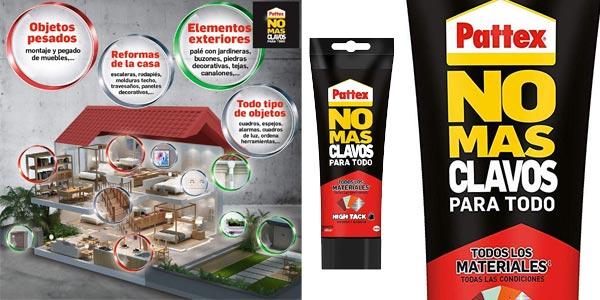 Adhesivo de montaje Pattex No Mas Clavos Para Todo HighTack de 340 gramos barato en Amazon