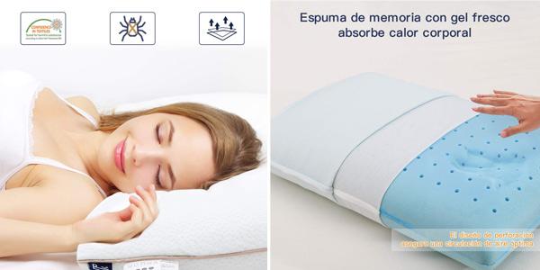 Almohada Cervical Viscoelástica BedStory chollo en Amazon