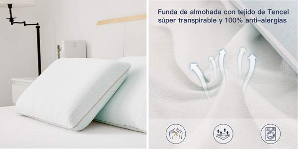 Almohada Cervical Viscoelástica BedStory chollazo en Amazon