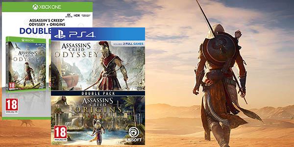 Double Pack: Assassin's Creed Odyssey + Assassin's Creed Origins para PS4 y Xbox One