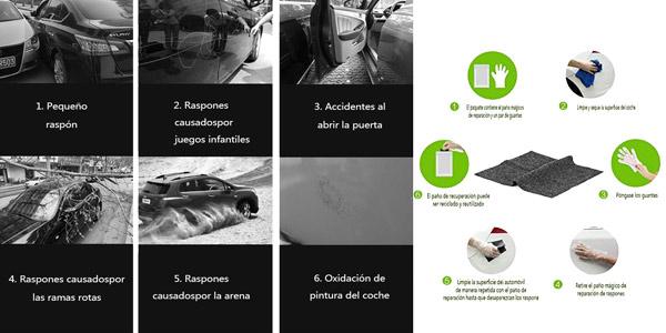 Reparador de arañazos Bamoer para coche chollo en Amazon