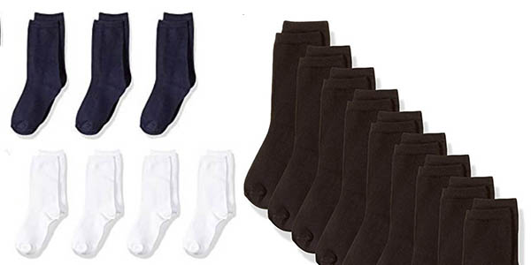 Calcetines de algodón para niños Amazon Essentials chollo