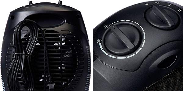 Calefactor de cerámica AmazonBasics de 1.500 W con termostato ajustable barato