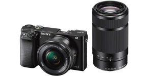 Cámara EVIL Sony A600 con objetivos barata en Amazon