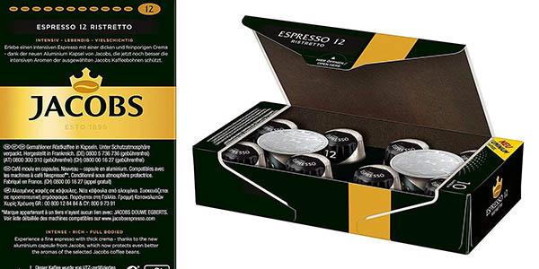 cápsulas Ristreto de sabor intenso Jacobs Espresso oferta