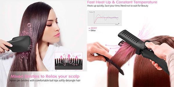 Cepillo moldeador de pelo eléctrico Abody 3 en 1 barato