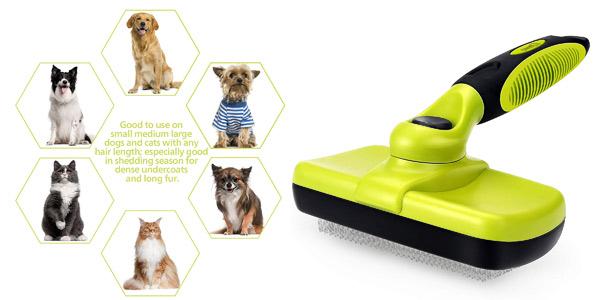 Cepillo retráctil para perros y gatos Pecute barato en Amazon