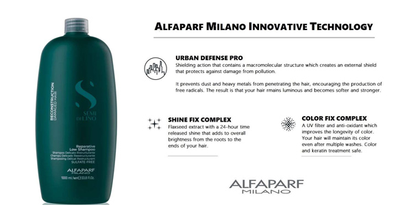 Champú Alfaparf Milano Semi di Lino Reestructurante para pelo dañado de 1.000 ml chollo en Amazon