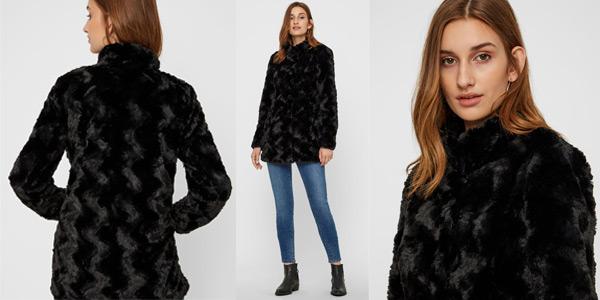 Chaqueta de pelo sintético Vero Moda NOS Vmcurl High Neck Faux Fur Jacket barata en Amazon