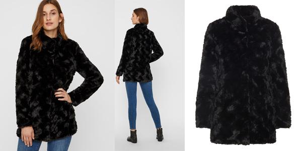 Chaqueta de pelo sintético Vero Moda NOS Vmcurl High Neck Faux Fur Jacket chollo en Amazon