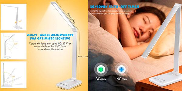 Chollo Lámpara LED de escritorio Aimai con USB