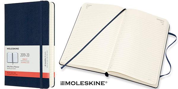 Chollo Agenda diaria Moleskine de 18 meses 2019/2020