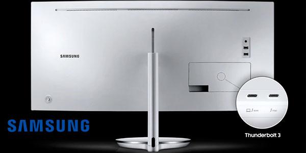 "Monitor curvo Samsung Thunderbolt 3 QLED de 34"" en oferta"