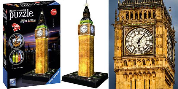 Chollo Puzle 3D Ravensburger Big Ben con luz LED