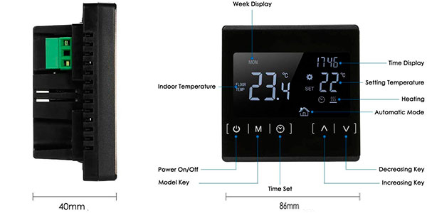 Termostato Zitainn con pantalla táctil barato