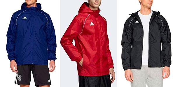 Chubasquero Adidas Core 18 para hombre en varios modelos barato
