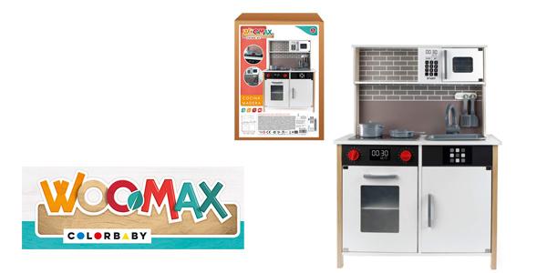 Cocina de madera Woomax (ColorBaby 49026) con luz, sonido y accesorios chollazo en Amazon