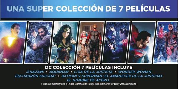 Colección 7 Películas Superhéroes DC en Blu-ray chollo en Amazon