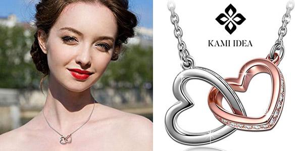 Collar Corazón a Corazón de Kami Idea con cristales de Swarovski barato en Amazon