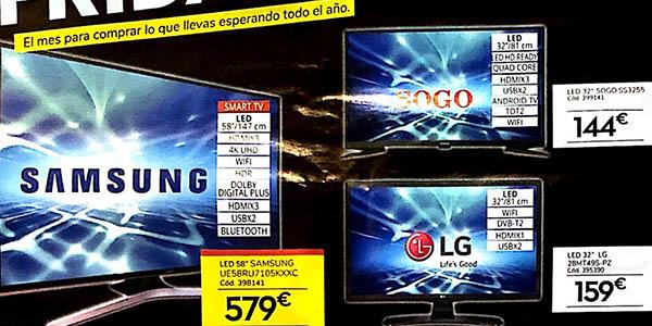 Conforama Black Friday 2019 ofertas en televisores