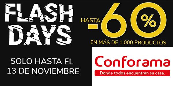 Conforama Flash Days promoción muebles