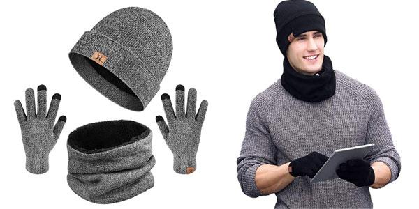 Conjunto de guantes, gorro y bufanda Heekpek para hombre barato en Amazon