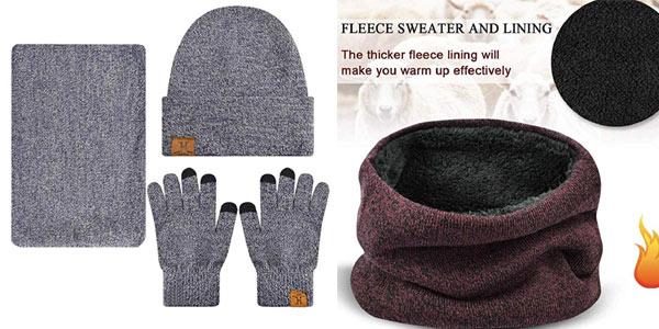 Conjunto de guantes, gorro y bufanda Heekpek para hombre en oferta en Amazon