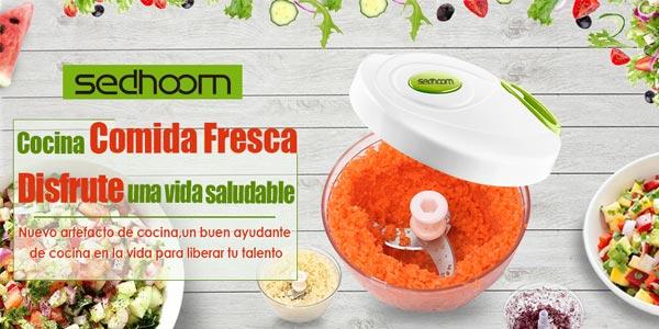 Sedhoom Cortadora picadora de verduras manual de 1.000 ml barata en Amazon