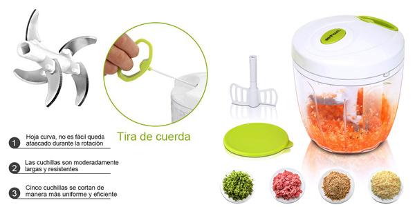 Sedhoom Cortadora picadora de verduras manual de 1.000 ml chollo en Amazon