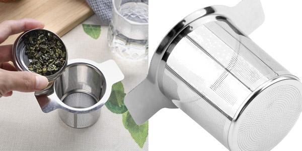 Colador de té o café reutilizable iTimo con 2 Asas y Tapa de Acero Inoxidable chollazo en Amazon