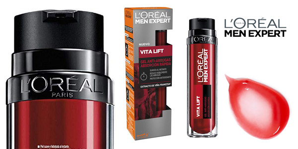 L'Oréal Paris Men Expert Vitalift Gel Anti-Arrugas de Absorción Rápida de 50 ml barato en Amazon