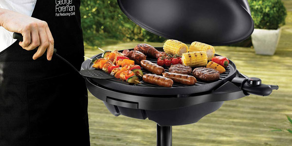 Grill barbacoa George Foreman de 2.400 W hasta 15 raciones chollo en Amazon
