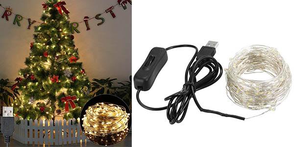 guirnalda de luces LED Weehey para árbol de Navidad chollo
