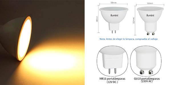 Ilumini Bombillas GU10 sustitutas de halógenas oferta