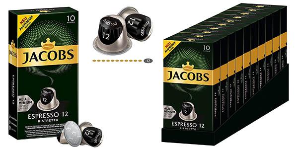 Jacobs Espresso Ristretto cápsulas de café compatibles con Nespresso chollo