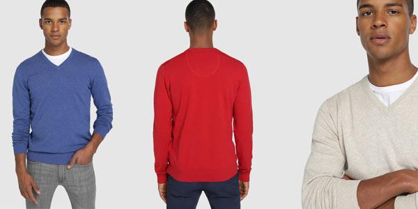 Jersey de punto y cuello de pico básico Easy Wear con descuento en El Corte Inglés