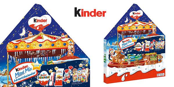 Kinder Navidad Maxi Mix calendario de adviento barato