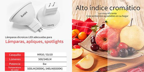 lámparas Ilumini GU10 pack ahorro