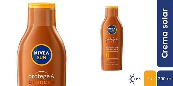 leche solar Nivea Sun Protege y Broncea potenciador del bronceado chollo