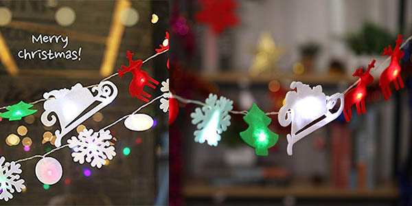 luces LED para árbol de Navidad Ohuhu chollo