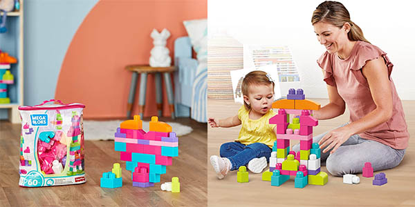 Bolsa clásica Mega Bloks con 60 bloques de construcción barata
