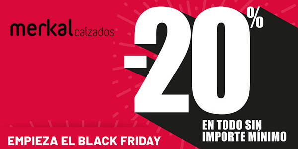 Merkal Calzados Black Friday 2019