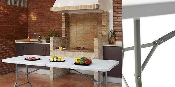 mesa plegable resistente KitGarden relación calidad-precio estupenda