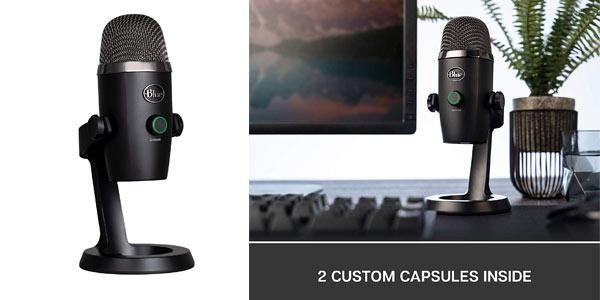 Micrófono USB condensador profesional Blue Yeti Nano barato en Amazon