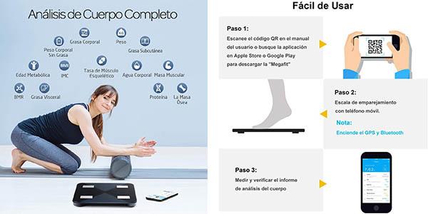 Mpow báscula digital con aplicación móvil chollo